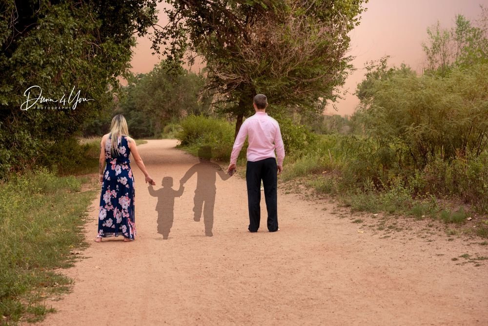 Parents with their Angel babies shadowns photogshopped together at Fountain Nature Center by Dunn 4 You Photography