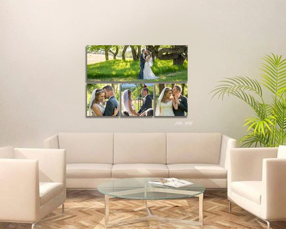 wall canvas collection of wedding couple in the woods kissing hugging photographer luba wold hayden Idaho
