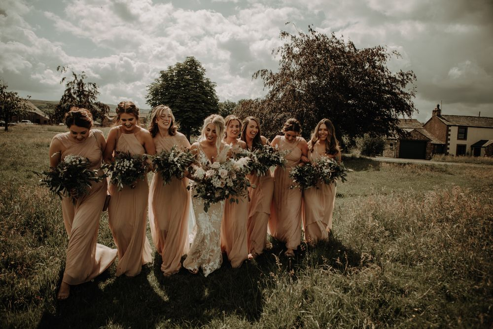 Bride and Bridesmaids cumbria wedding