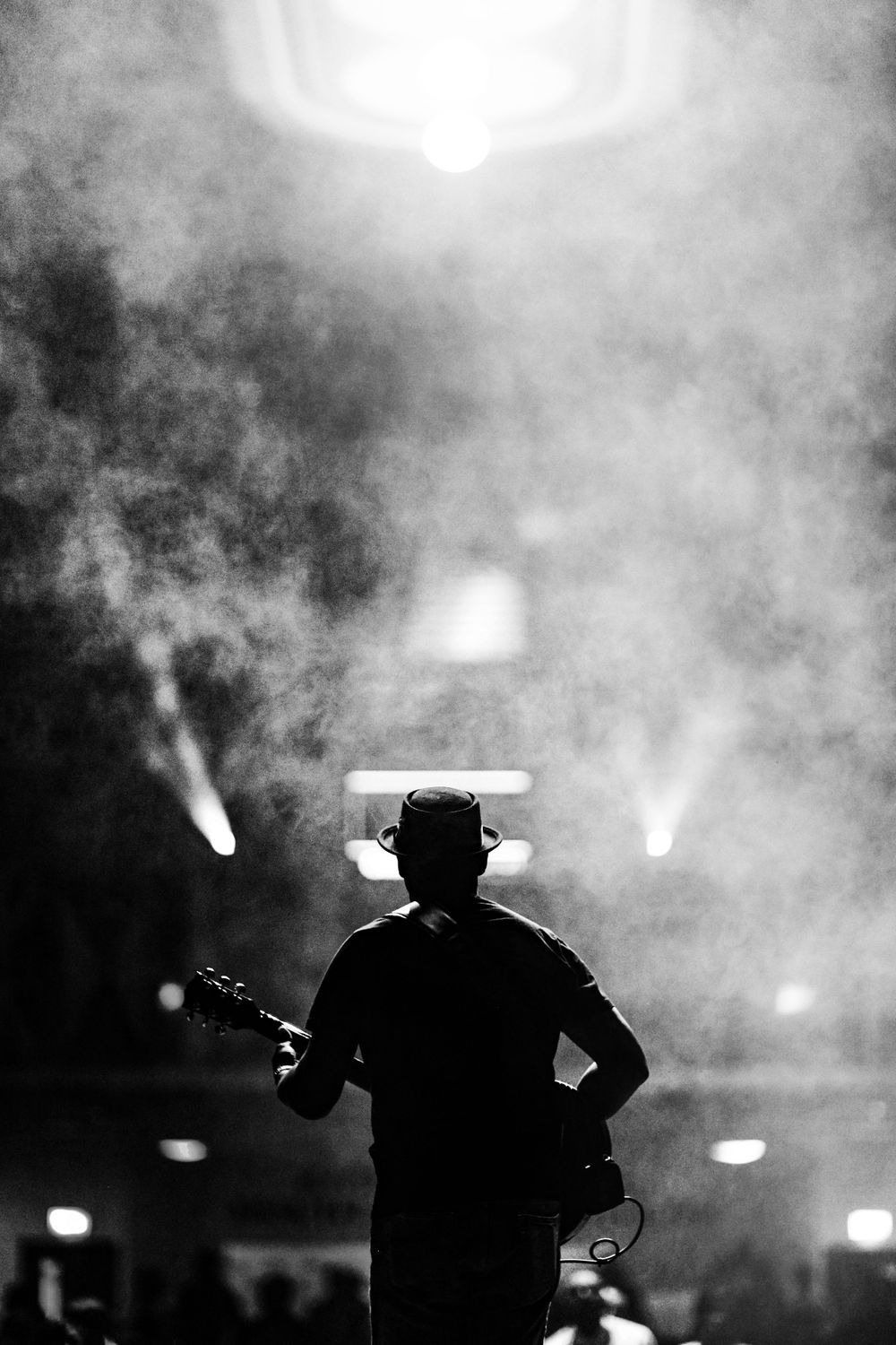 Noel Robinson Silhouette on Stage