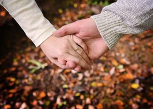 Holding Hands Engagement Shoot