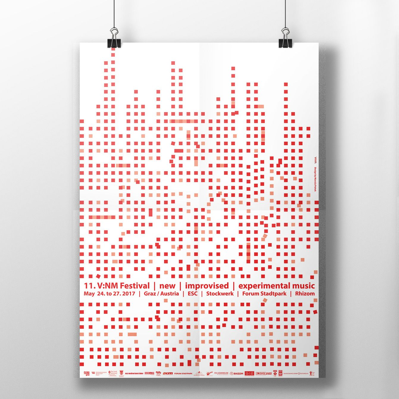 V:NM poster experimental music Austria design sound equalizer