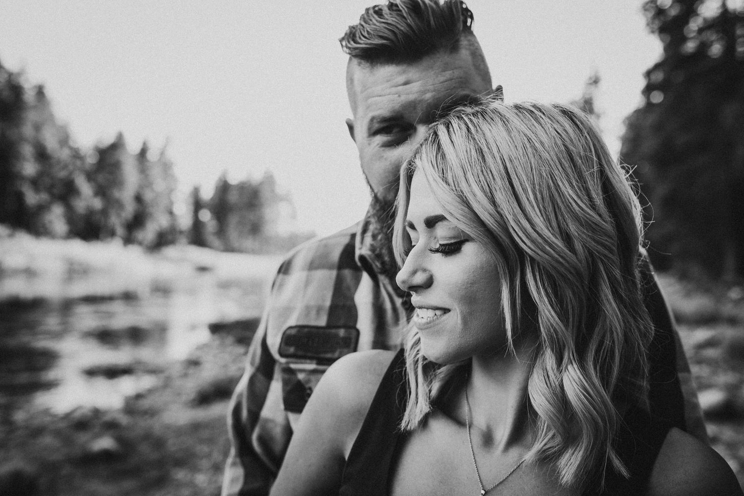 black and white Corbin park couples photos Soulful Hues Photography