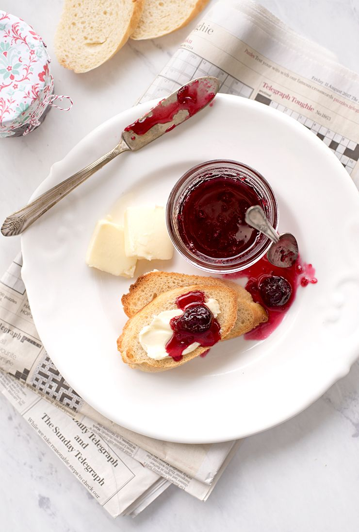 Cherry Jam Food Photography by Charity Beth Long