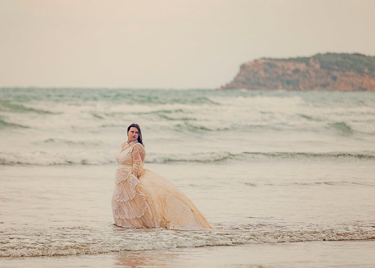 Our gorgeous vintage wedding gown being used in a Rock the Frock sessions at Ocean Grove in Victoria.
