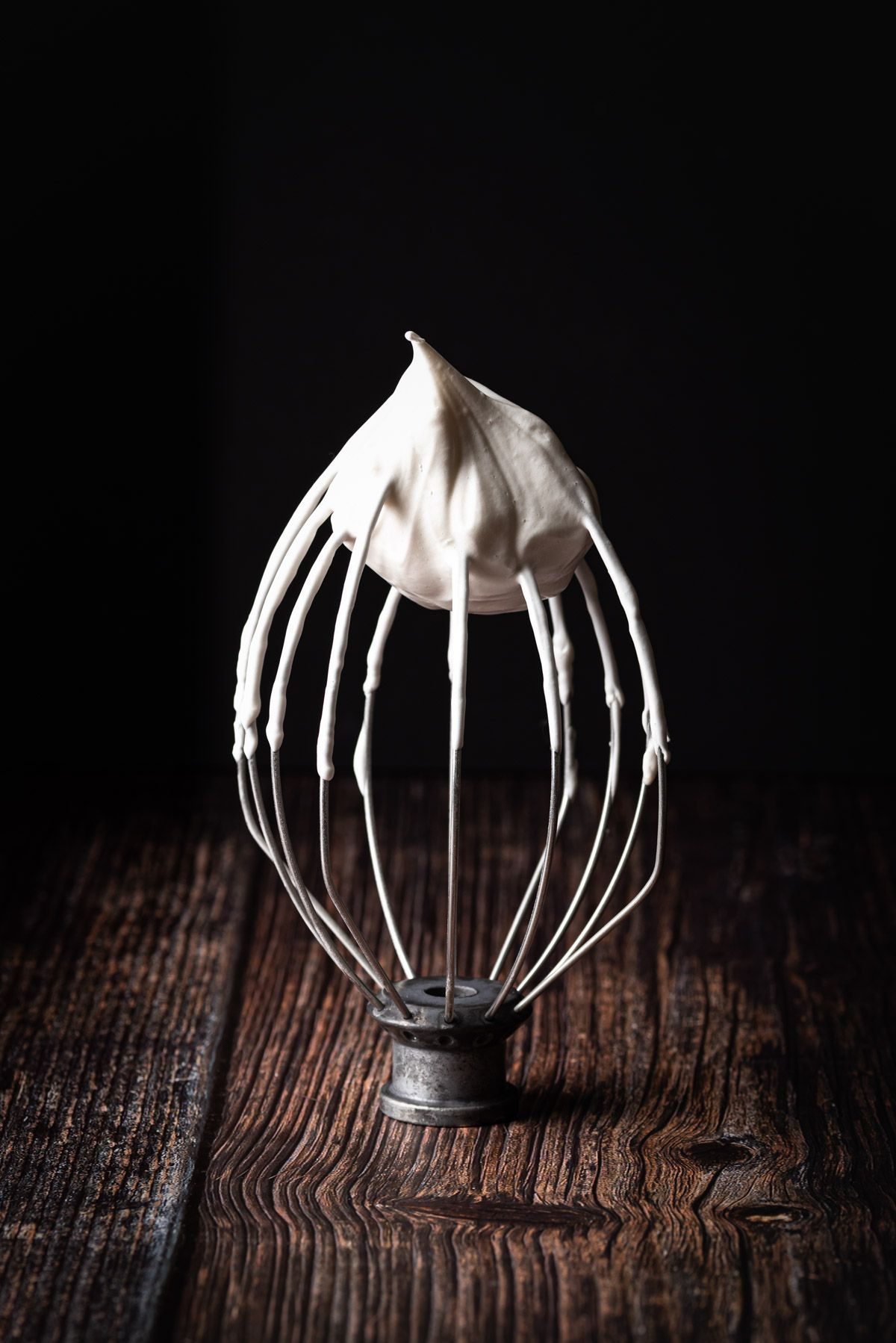 Emily Miller, Tucson, Food Photographer, Vegan Meringue on a Balloon Whisk