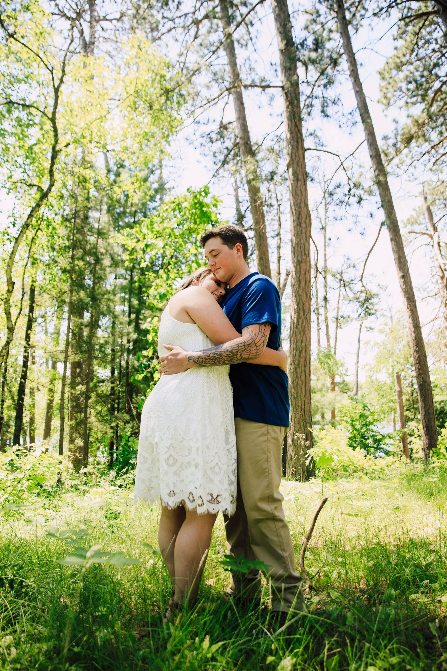 Engagement session love story Itasca State Park Park Rapids MN ND Photographer summer love