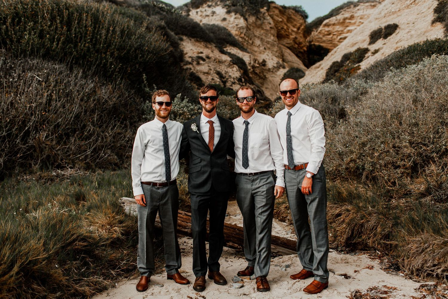 Crystal Cove State Park Wedding Party - Chelly&Luke WEDDING - Mike Yoon Photo