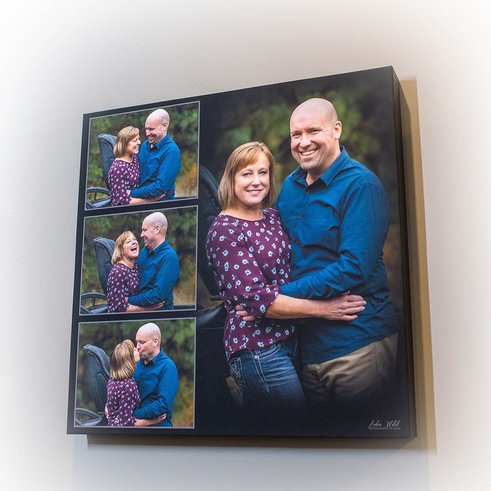 canvas acrilyc wall portrait of a couple parents photographer luba wold coeur d alene