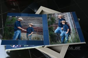 Spokane family portraits book father and son photographer luba wold western style