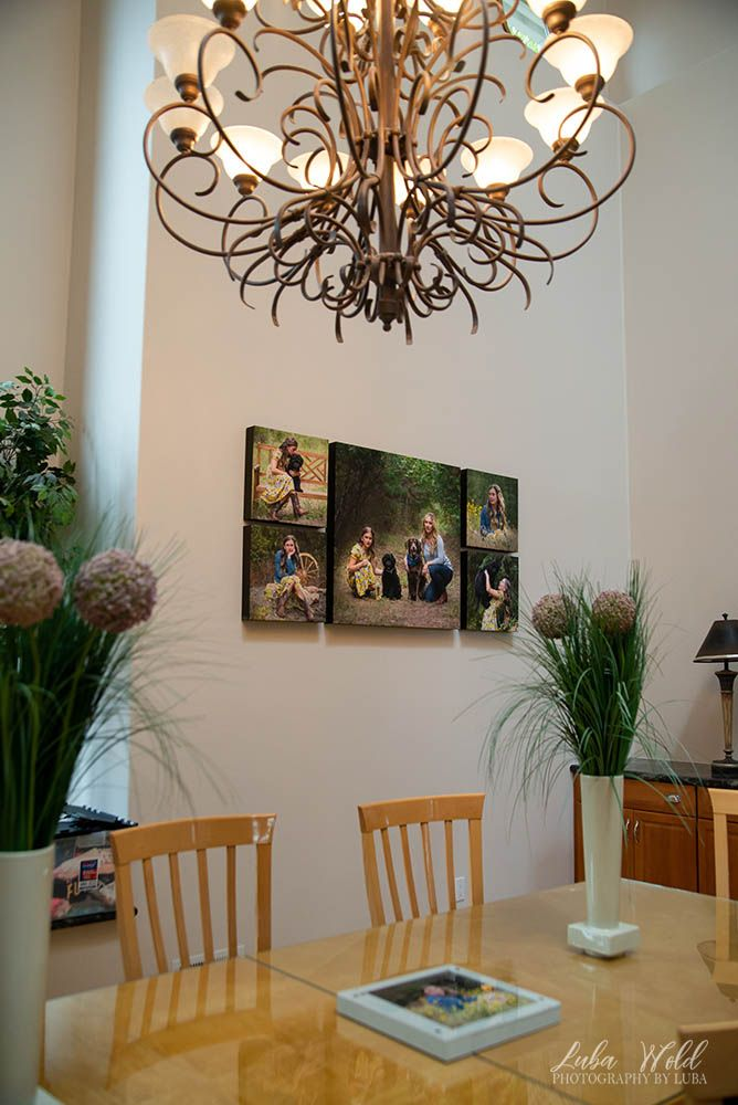 acrylic wall portrait collection of mather with daughter family photographer luba wold hayden coeur d alene
