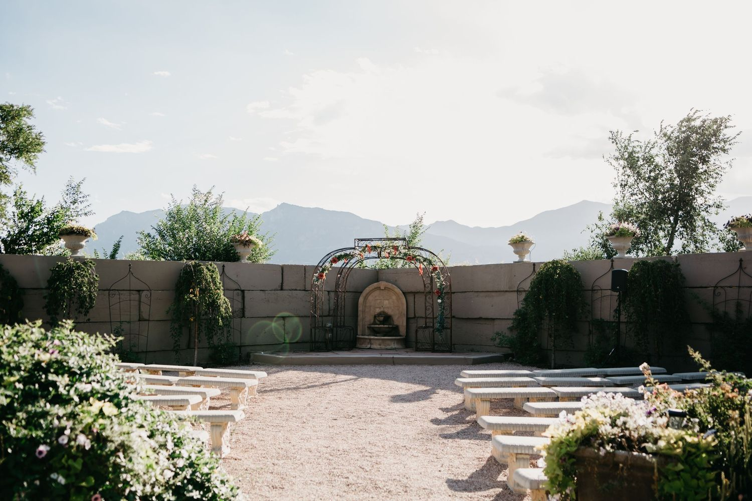 Floral Wedding Ideas, Hillside Gardens, Wedding Archway, Colorado Wedding Ideas, Colorado Springs Summer Wedding