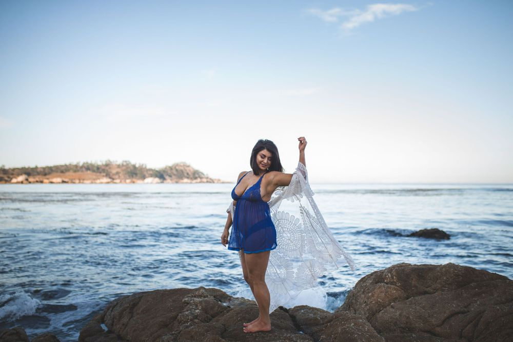 Boudoir Photo Monastery Beach Carmel Monterey California Wedding Photographer