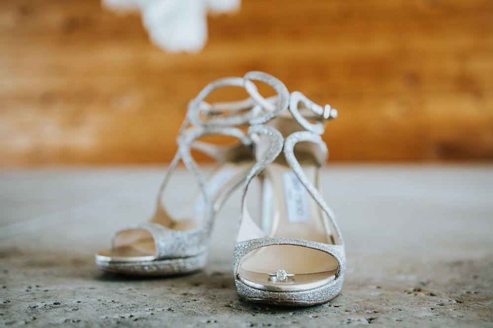 rebecca skidgel photography crow canyon country club danville wedding photographer bride getting details shoes and ring