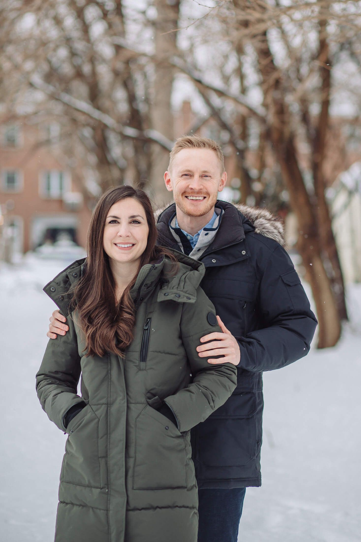 Cherry Hill engagement photography session in the snow.