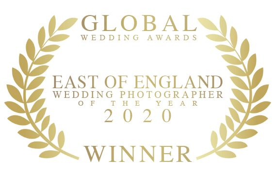 global wedding awards east of england's wedding photographer of the year award given to Faye Amare Photography in 2020