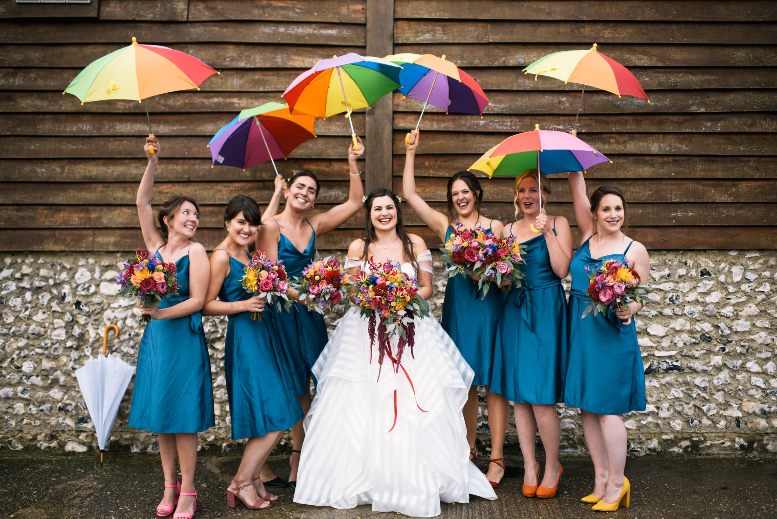 Brighton Wedding photographer fun alternative Allison Dewey photography Pangdean Barn Wedding