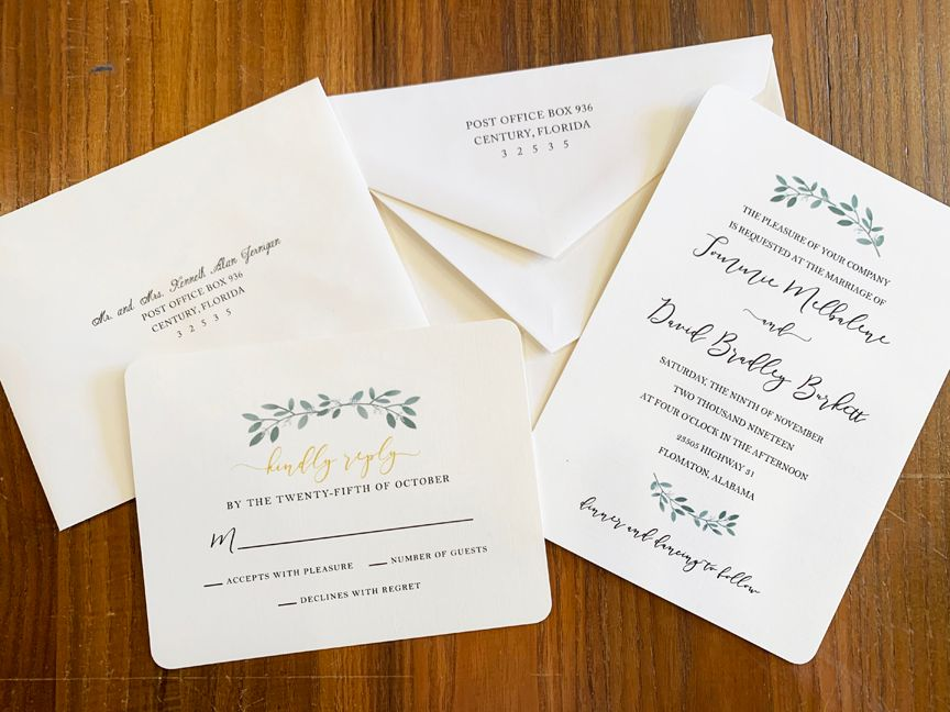 Complete Suite of Wedding Stationary