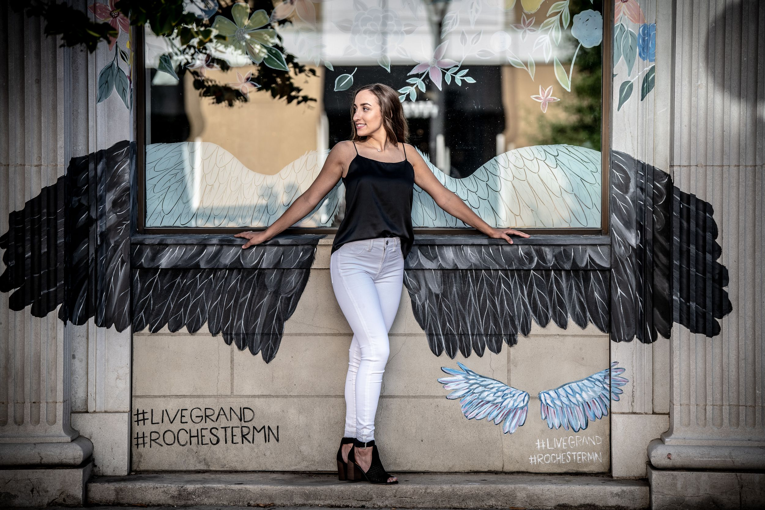 Senior Photo, Angel Wings, Rochester, MN