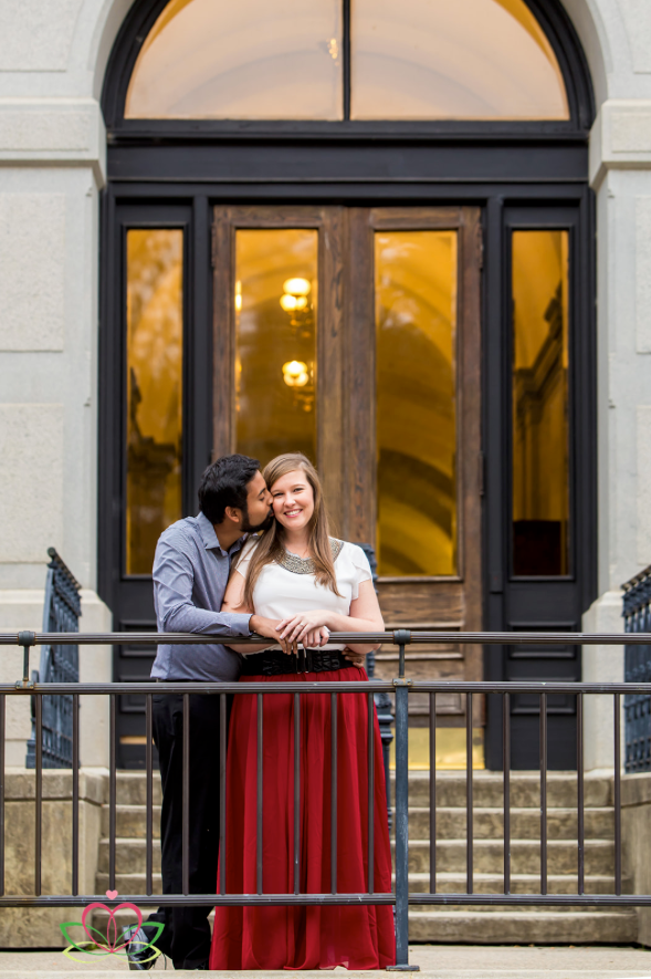 Engagement portrait at the State House in Columbia, SC