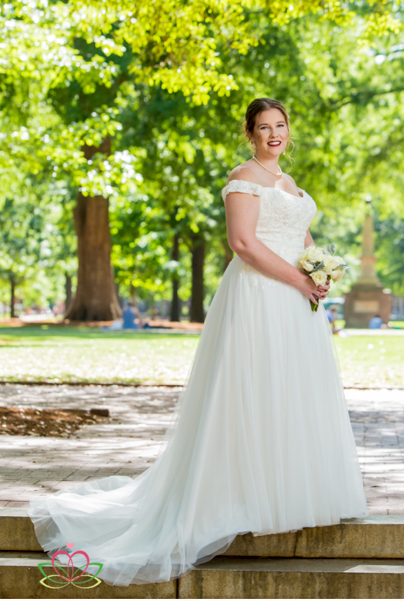Bridal Portrait the University of South Carolina Horseshoe in Columbia, SC