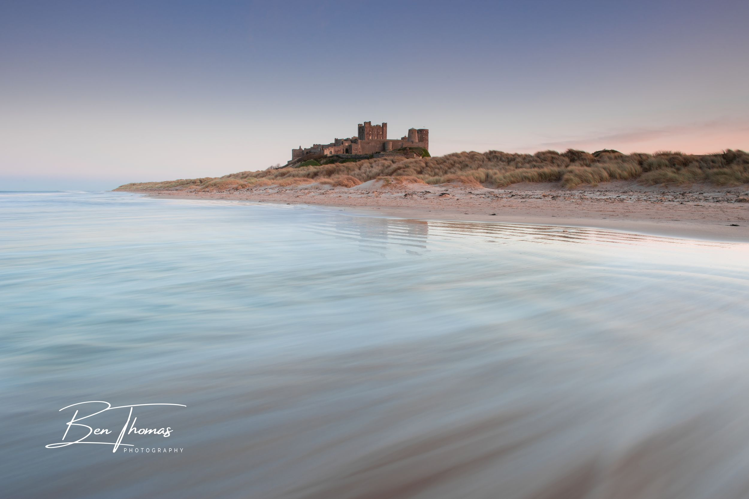 Bamburgh Castle Beach Northumberland Seascape
