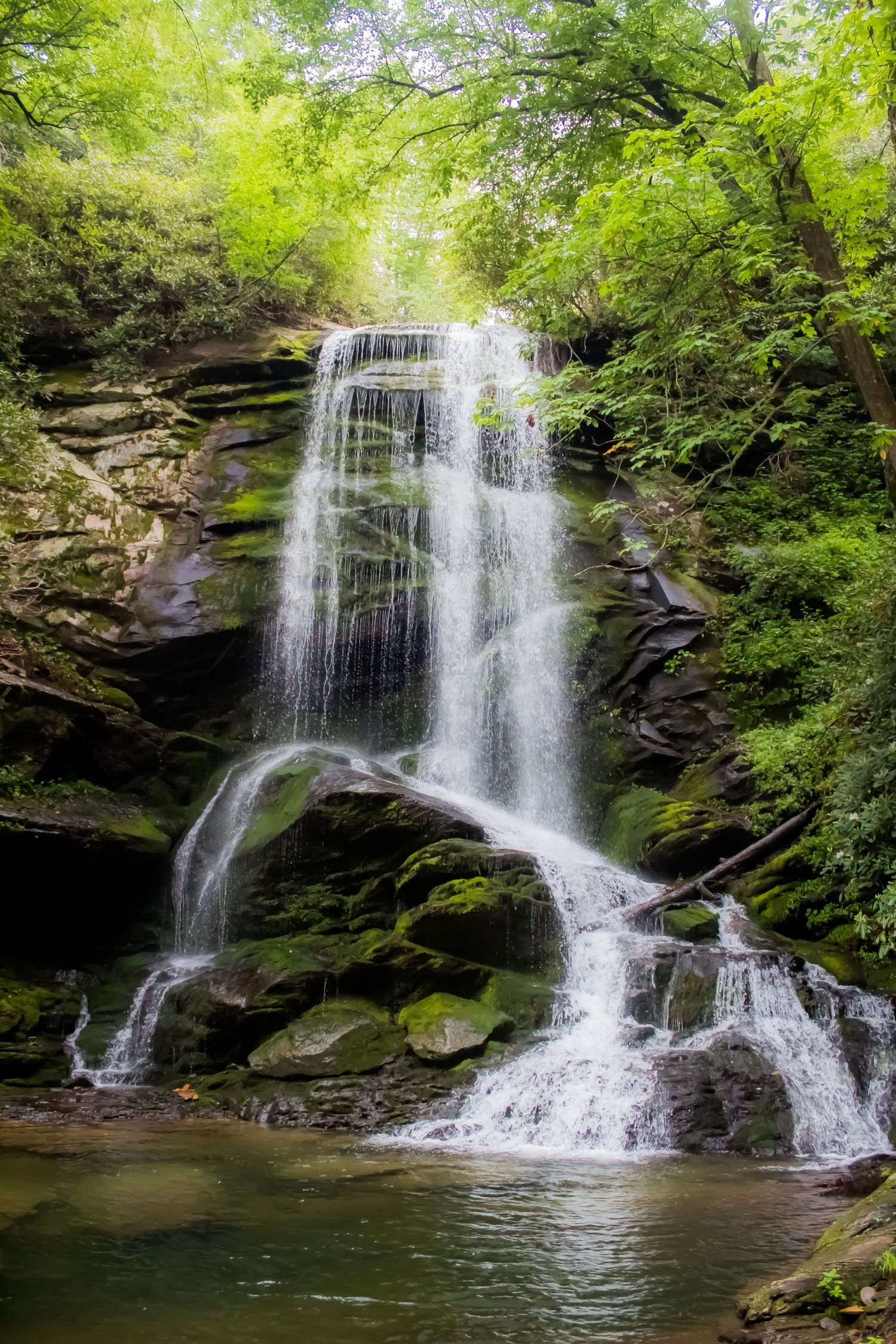 Catawba Falls in North Carolina one of the best places to elope.