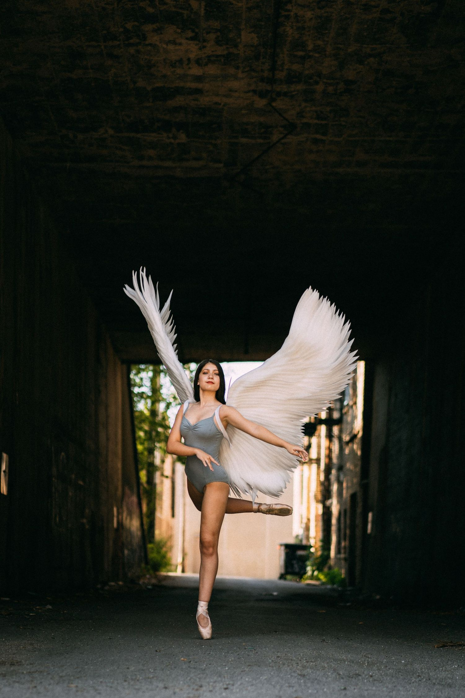 ballerina with angel wings chicago photograhy