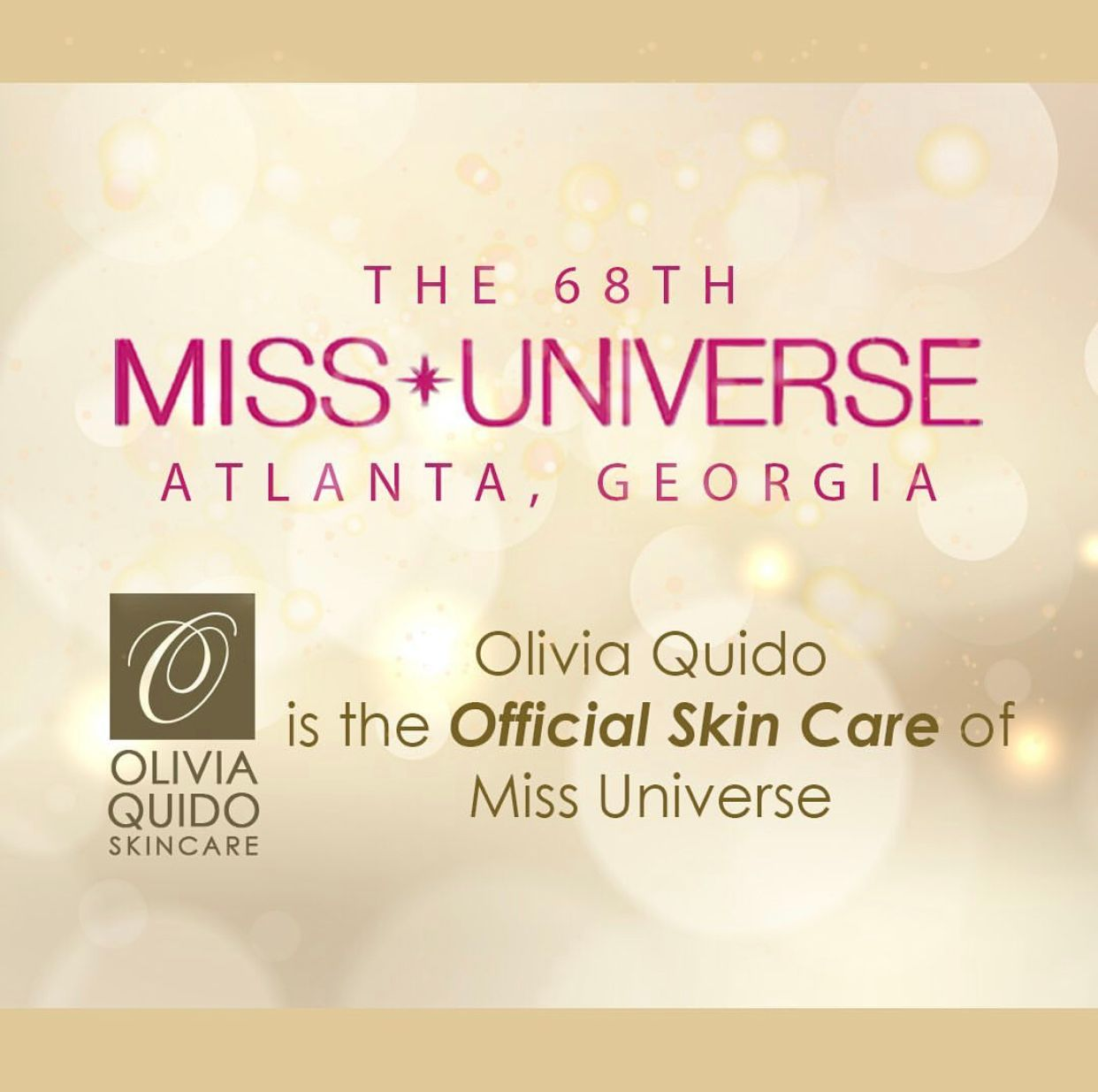 Olivia Quido Skin Care, The Official Skin Care of Miss Universe 2019