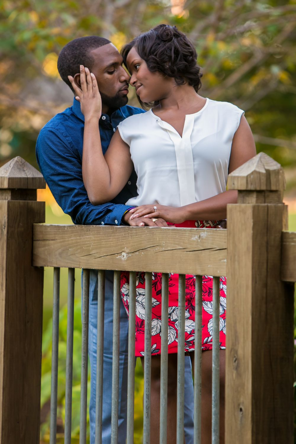 Engagement Portraits at Irmo Town Park in Irmo, SC