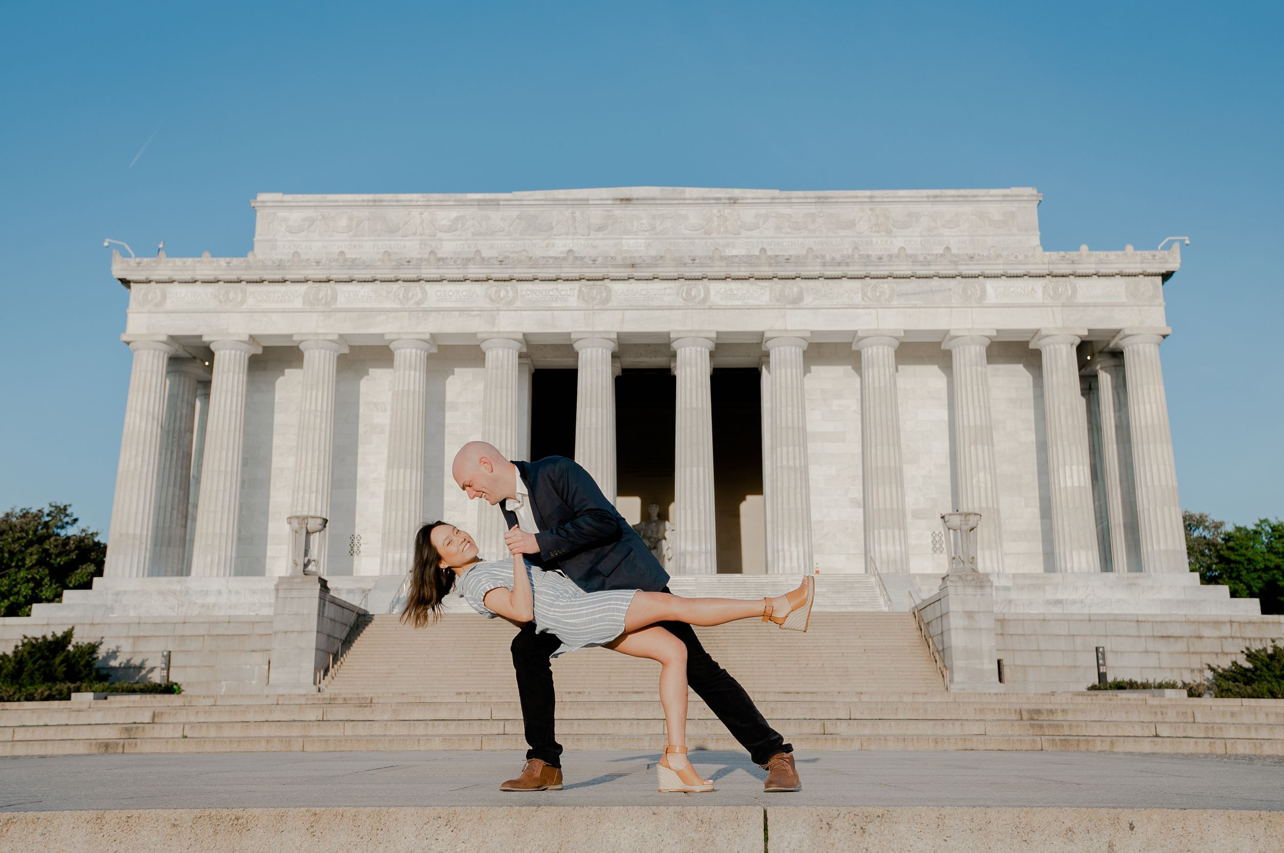 Engagement Session At Lincoln Memorial - Get Ready Photo
