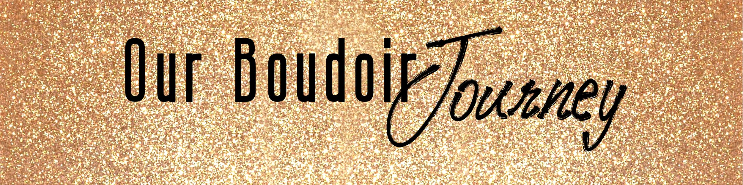 Boudoir By Elise Website Gold Glitter Banner for a Colorado Springs Photographer