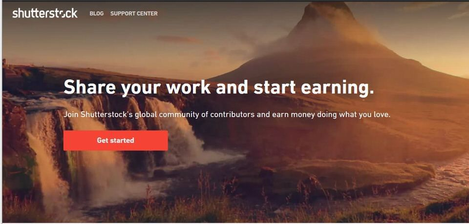 Shutterstock contributor signup to sell your images photos and videos