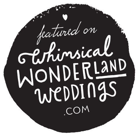 Logo for Whimsical weddings blog