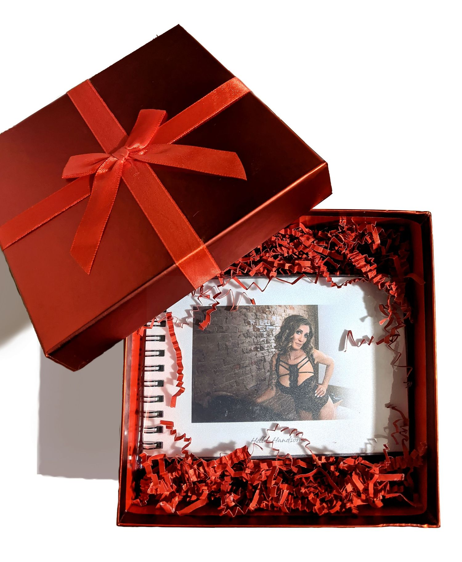"""Hello, Handsome"" photo flip booklet gift box - You KNOW that this is the BEST Christmas present for your lover"