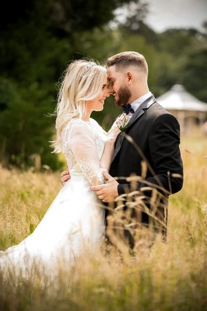 Wedding couple in a country estate