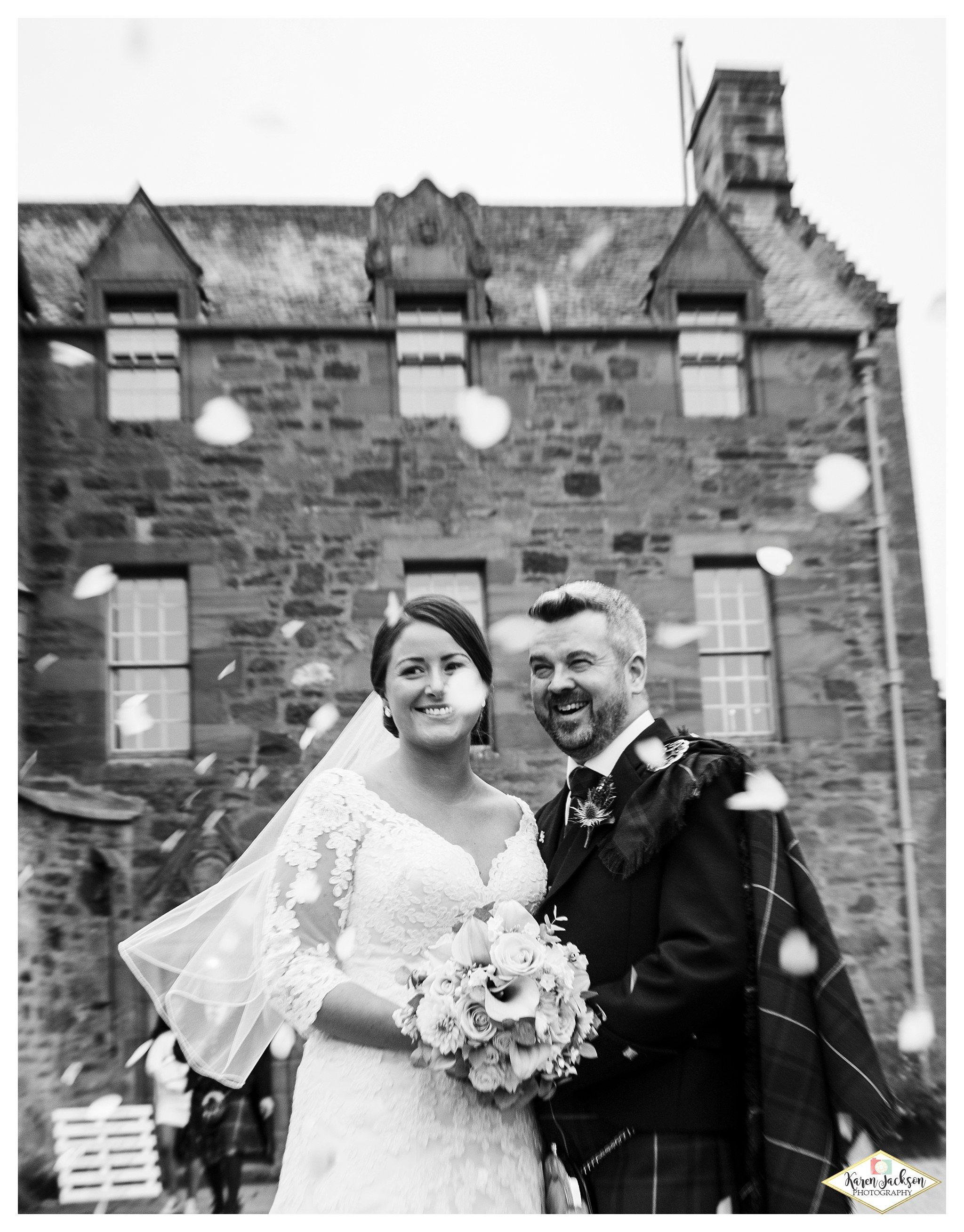 Fingask castle wedding photographer perthshire dundee