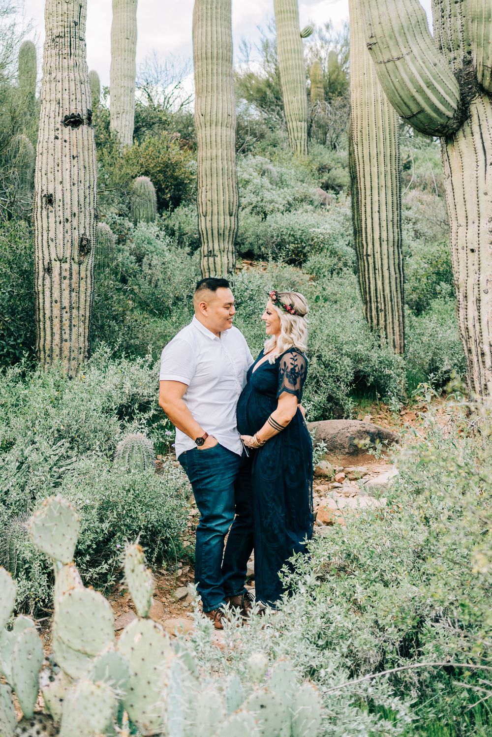 Maternity Session at Spurs Cross Trailhead in Cave Creek, AZ