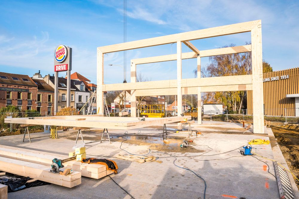 Redevco Pizza Hut Wood Construction