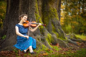 Jackie Phairow Photography Senior portrait with violin