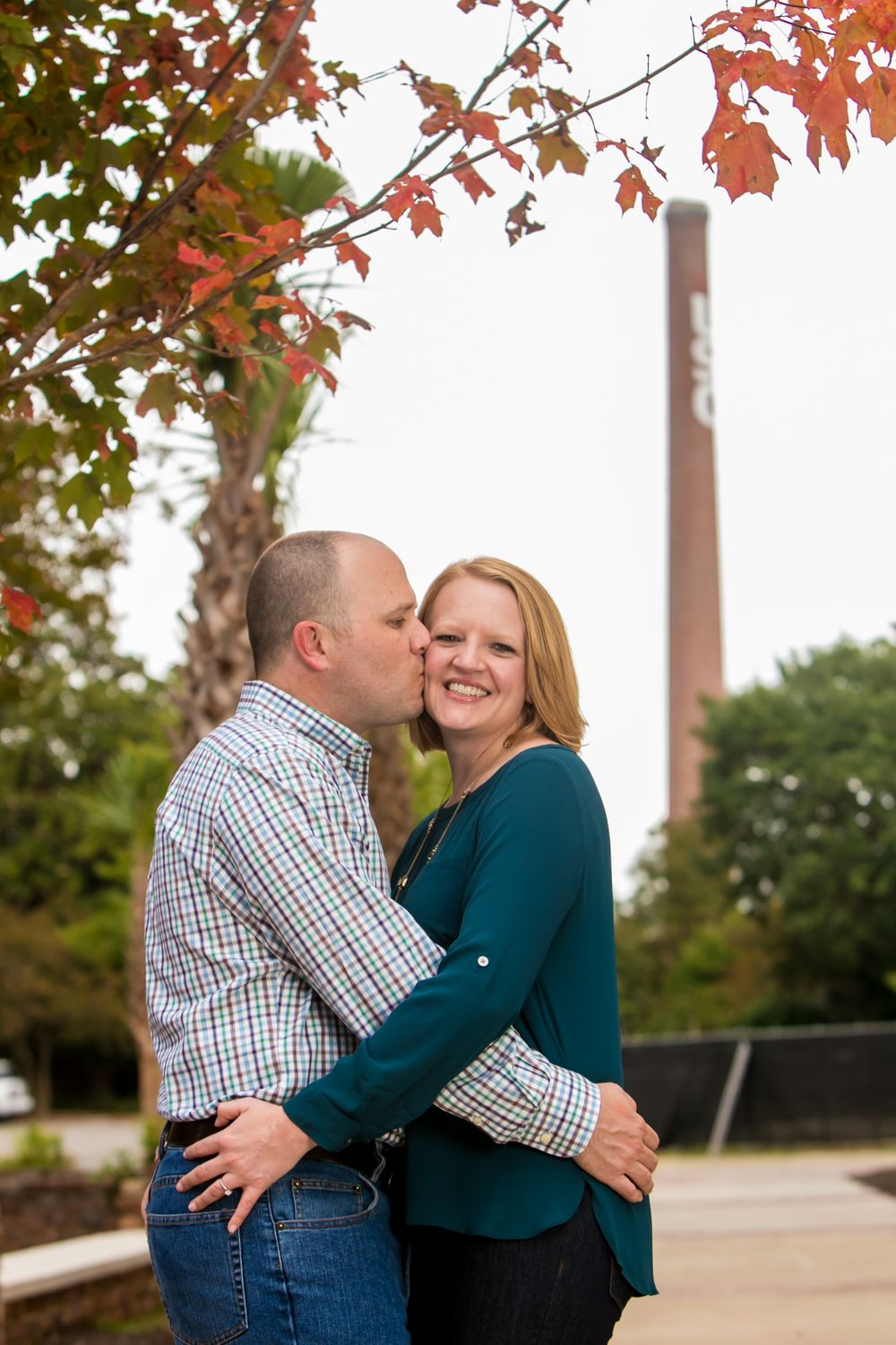 A engagment portrait at the University of South Carolina Horseshoe in Columbia, SC