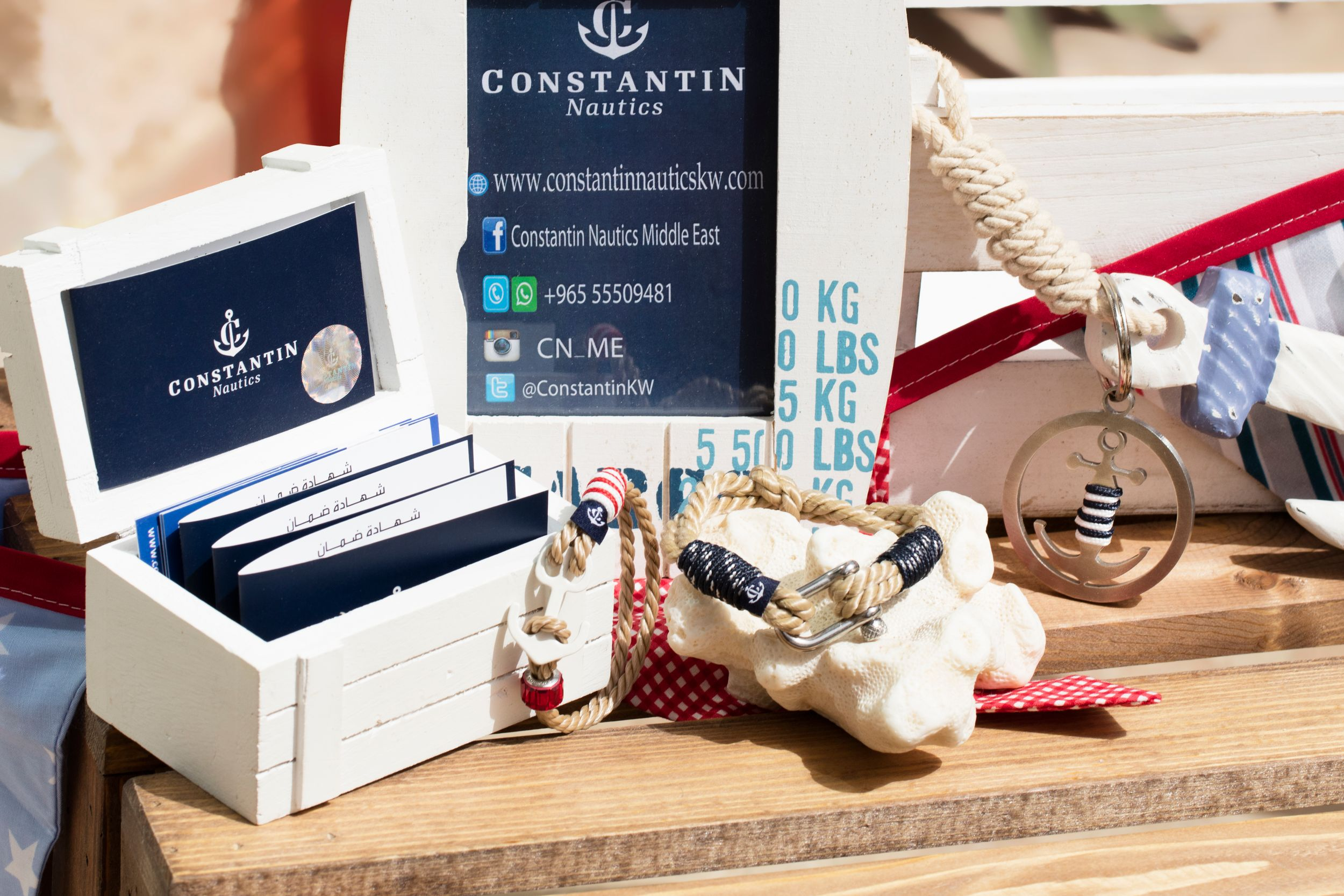product photography for Constantin Nautics