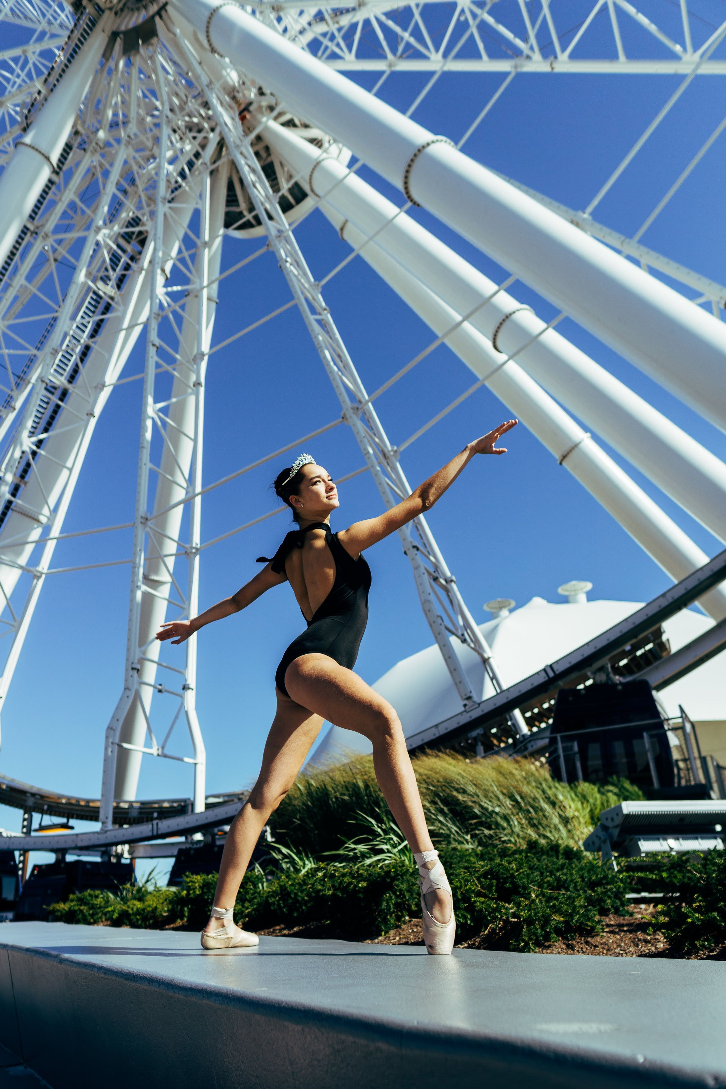 chicago dance photography ballerina at navy pier