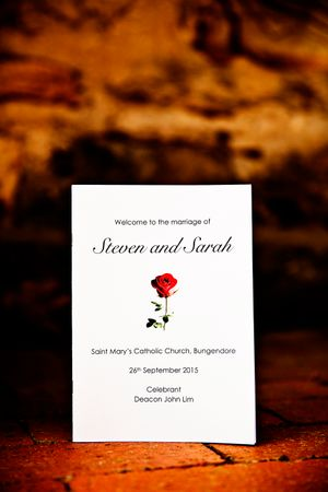 Wedding invitation in Canberra