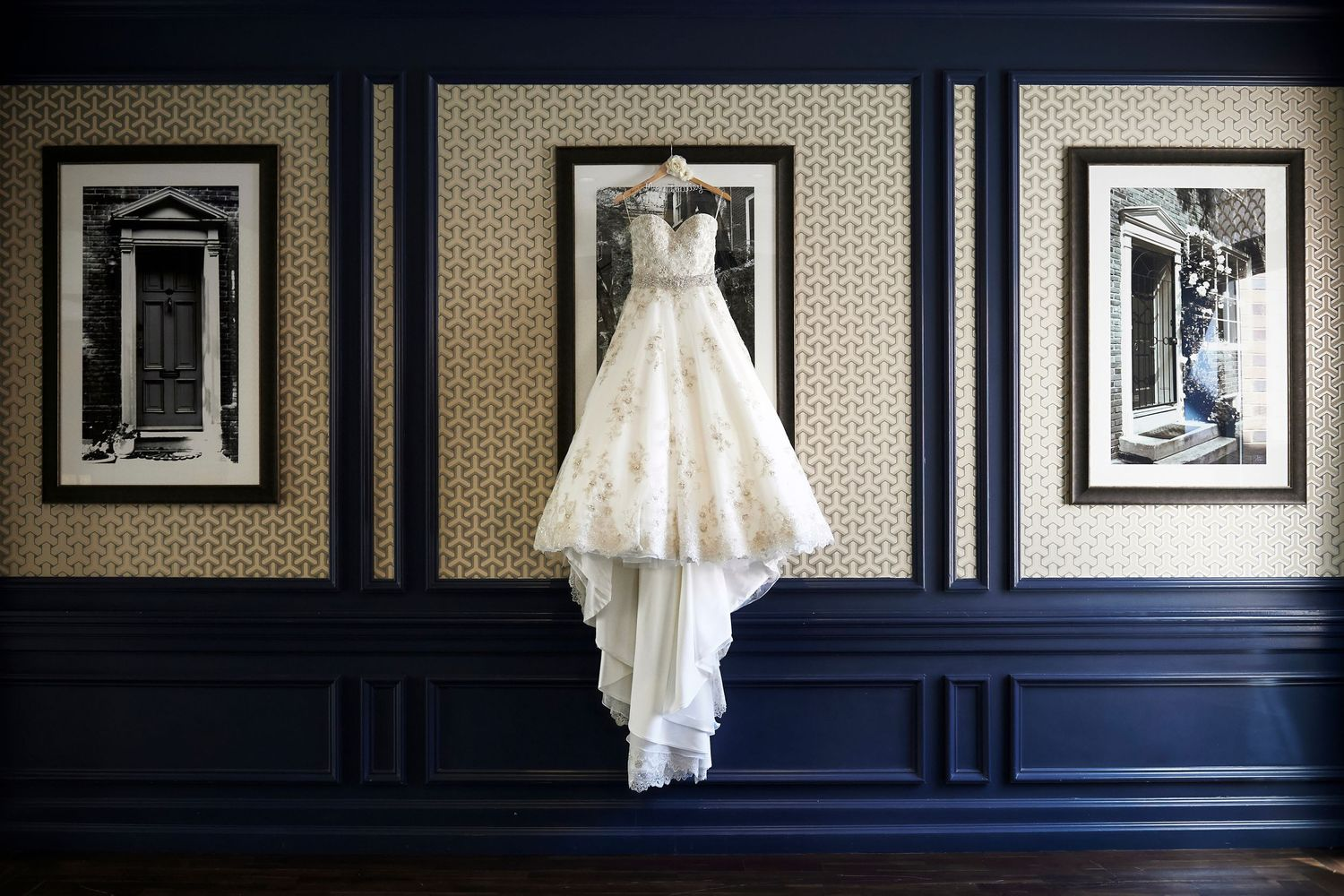 brides dress at the Marriott in Old City Philadelphia