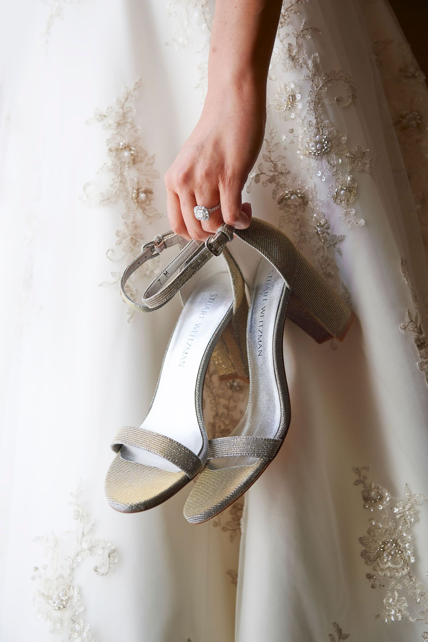 bride's shoes at the Marriott in Old City Philadelphia