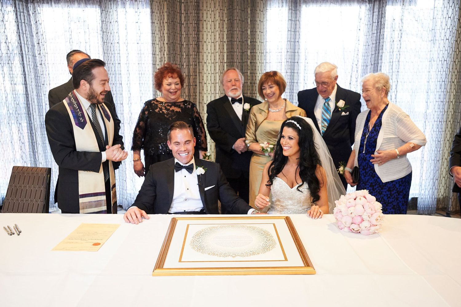 ketubah signing at the Marriott in Old City Philadelphia
