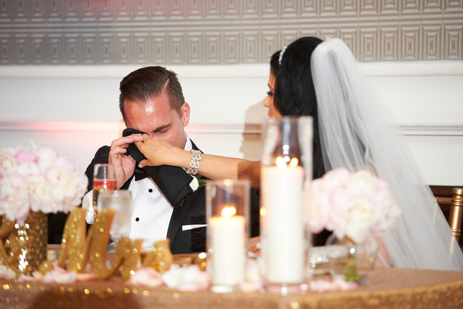 groom cries during speeches