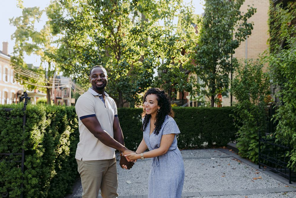 Toronto Engagement couple portrait