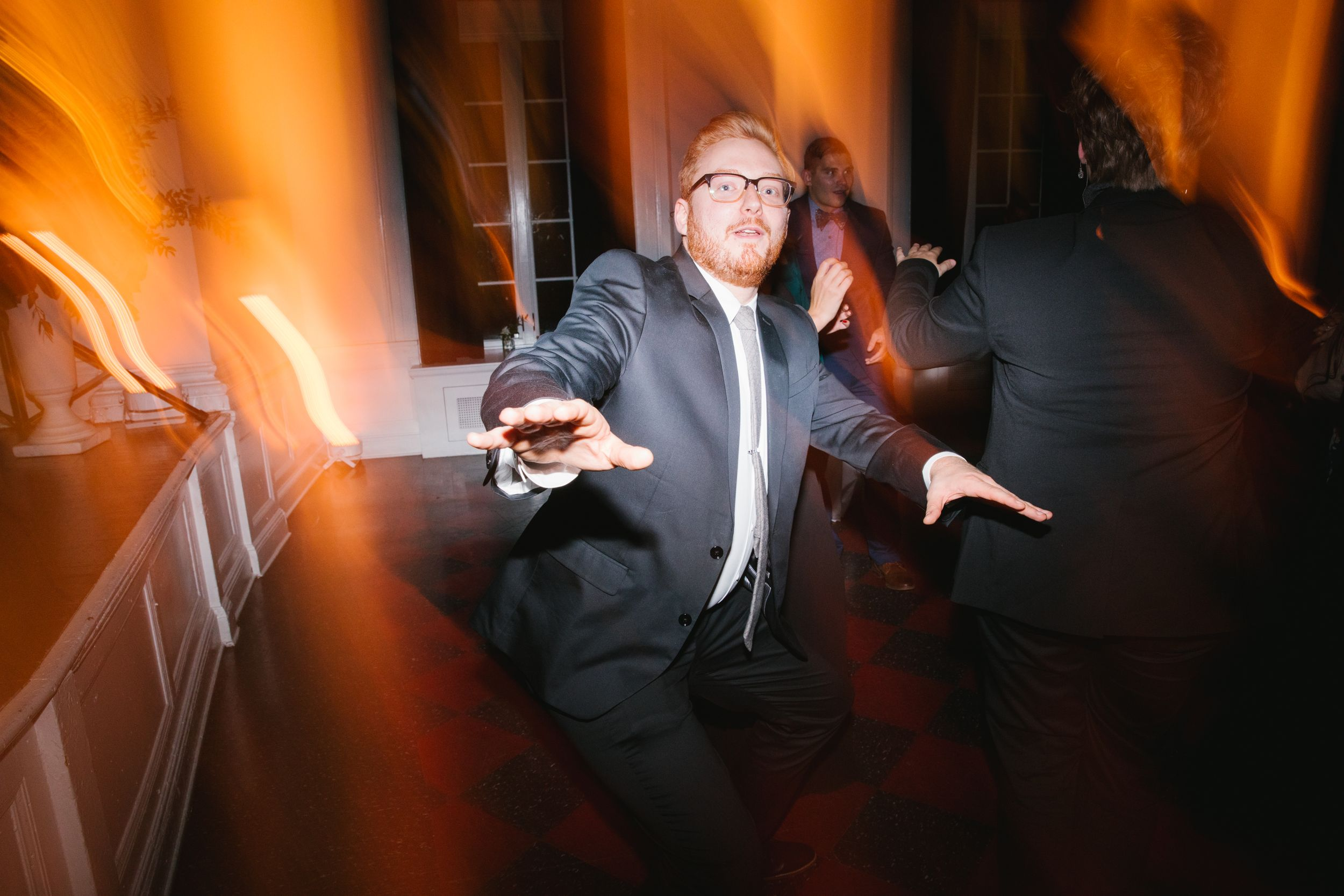 wedding guest dancing during reception ace hotel pittsburgh